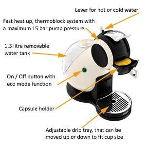 955adcc214b2d0 NESCAFE Dolce Gusto Melody 3 Manual Coffee Machine by Krups - Ivory ...