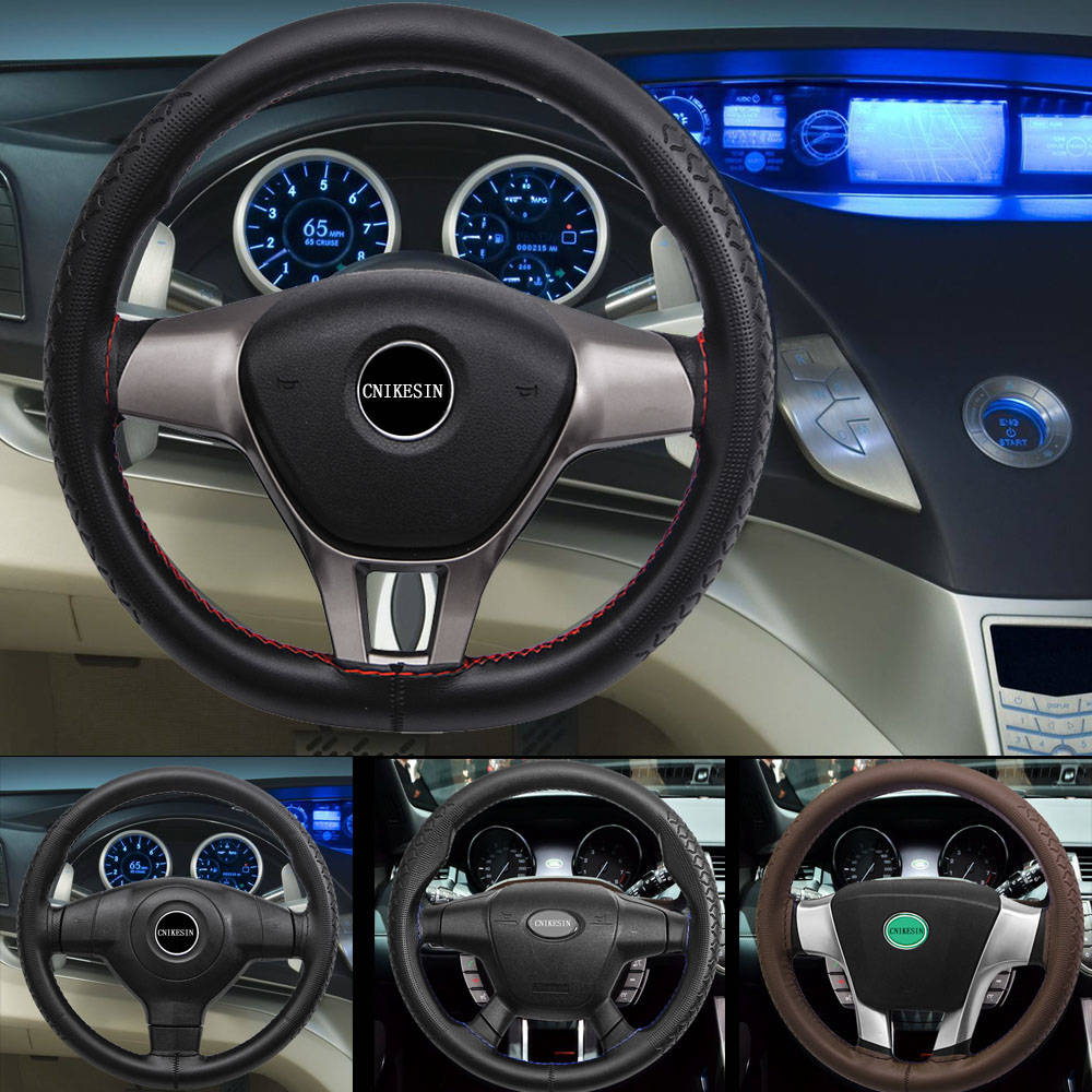 100 Pure Leather Steering Wheel Cover