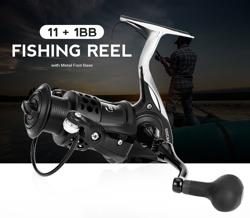 COONOR 11 + 1BB Spinning Fishing Reel with Foldable CNC Handle Metal Foot Base ...