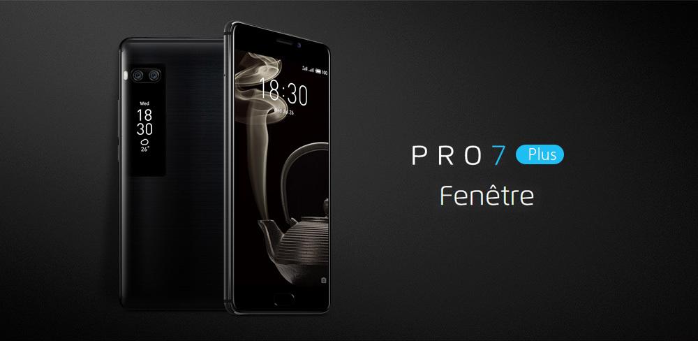 Meizu Pro 7 Plus 5.7 Inch Smartphone 2K Super AMOLED Screen 6GB 64GB Helio X30 Deca Core Dual 12.0MP Rear Camera Android 7.0 Hi-Fi Fast Charge mCharge 4.0 - Black