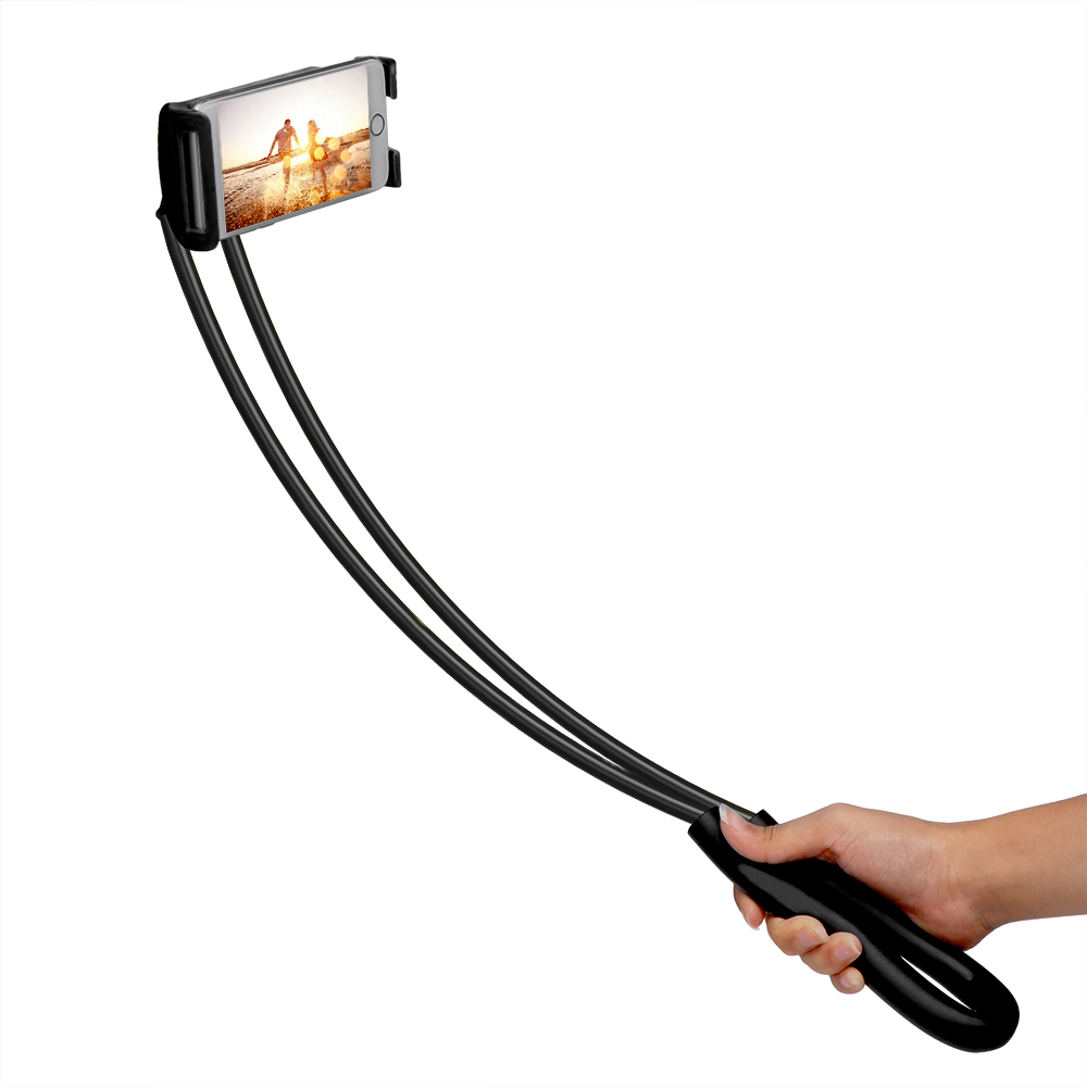 Powstro-Mobile-Stand-Bracket-Lazy-Flexible-Phone-Holder-Bendable-Hang-Neck-360-Degree-Rotation-For-iPhone