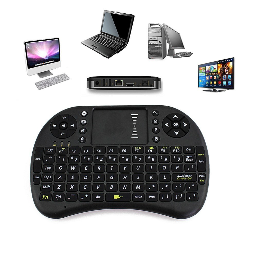 Mini USB Wireless Keyboard UKB-500-RF Backlight Touchpad Air Mouse Remote  Control for Android TV Box