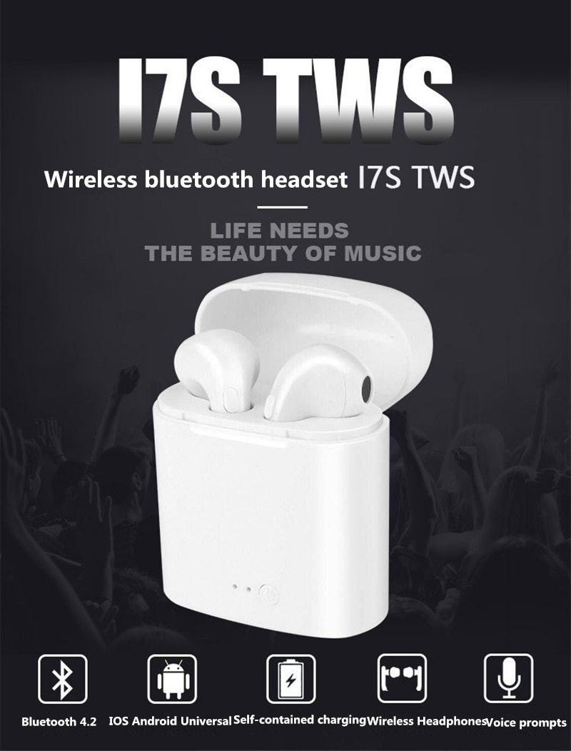 i7s TWS Mini Wireless Bluetooth Earphone Stereo Earbud Headset With  Charging Box For Samsung Iphone Huawei