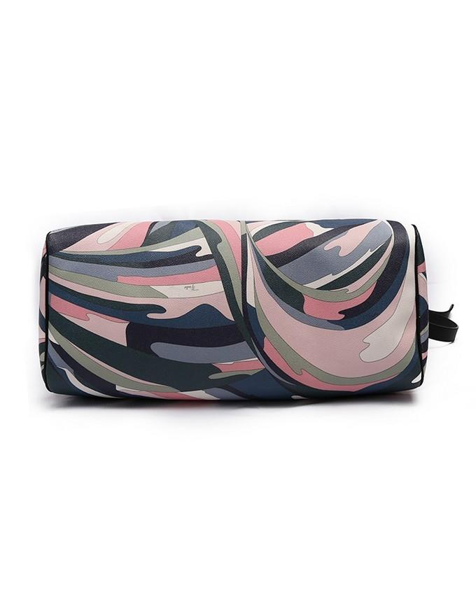 Multicolor Leather Duffel Bag For Women
