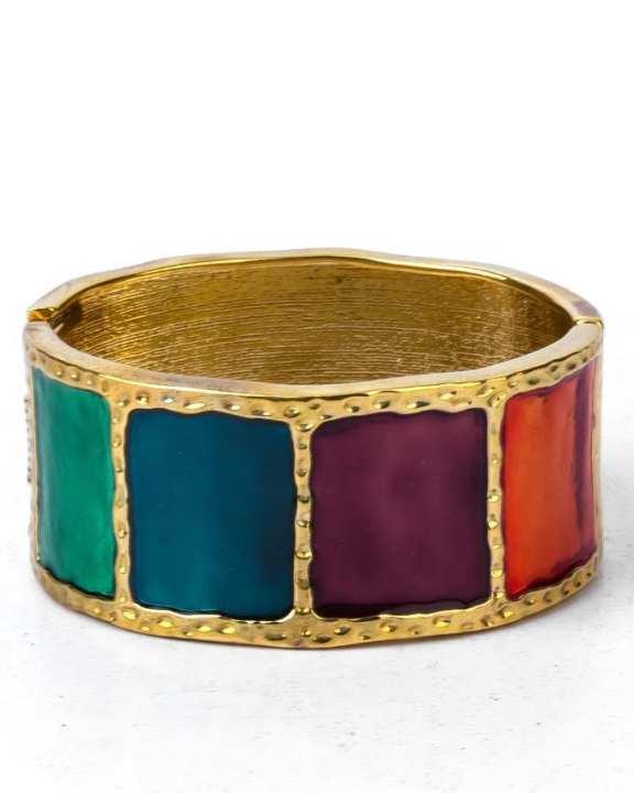 Golden & Multi Color Alloy Bracelet for Women - JP-1015