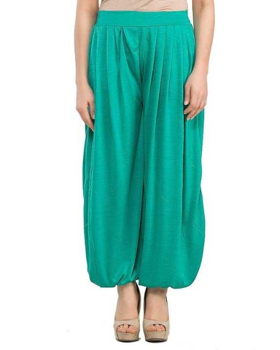 Sea Green Viscose Harem Pant for Women - AS-234