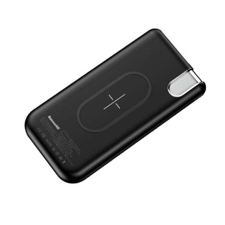 Baseus Wireless Charging Power Bank Thin version 10000mAh - Black