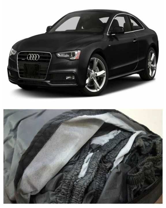 AUDI A5 TOP COVER IMPORTED TAFEETA WHITE FUZZING 100% WATER AND DEW PROOF