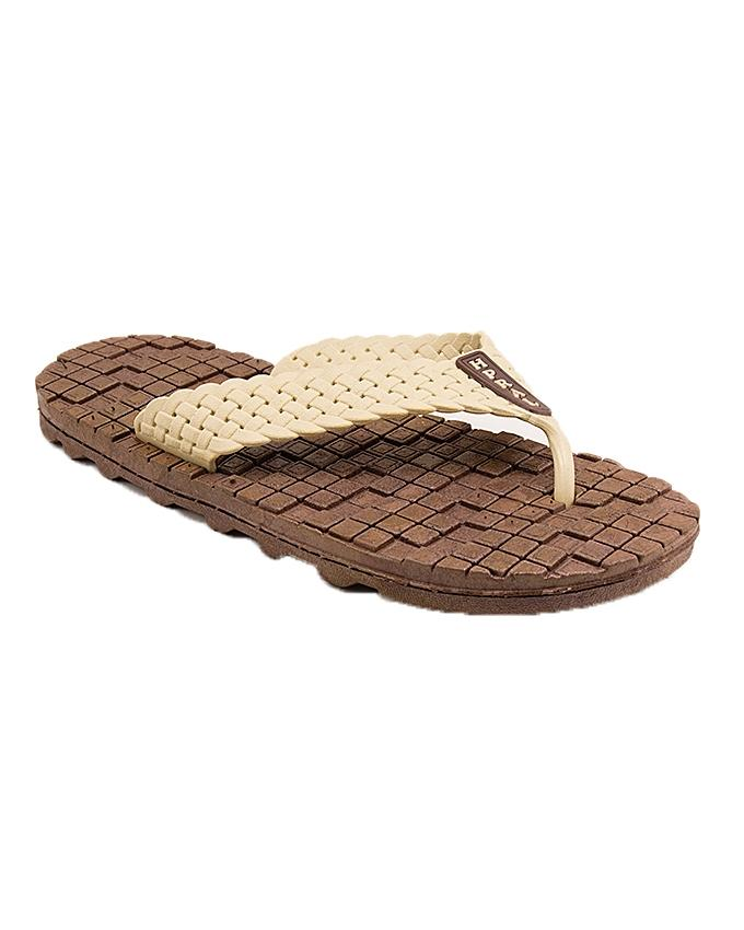 AEYS   Brown Rubber Slippers For Men