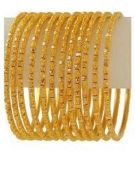 Set of 12 - 18K Gold Plated Bangles
