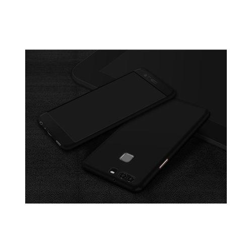 360 Degrees Protective Case With Free Tempered Glass For Huawei P10 Lite-Black