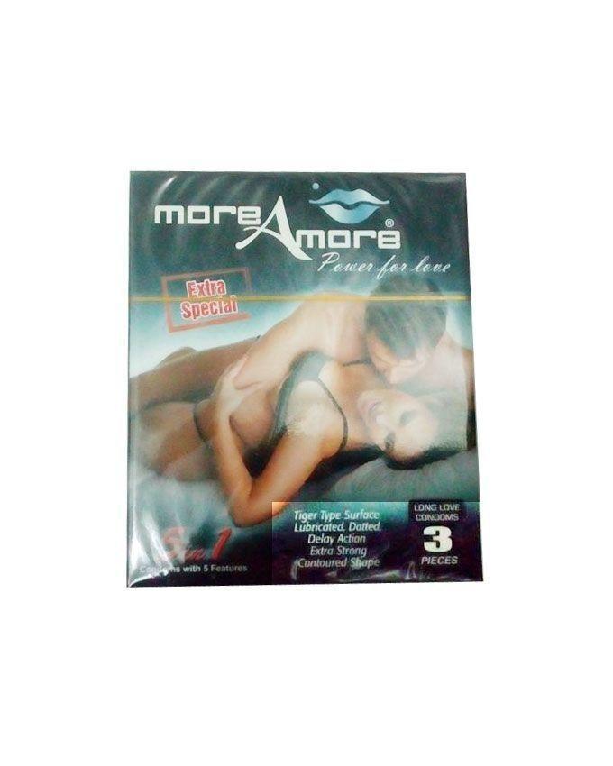 Pack of 3 - Prudence Classico, Josh Max & MoreAmore Condom