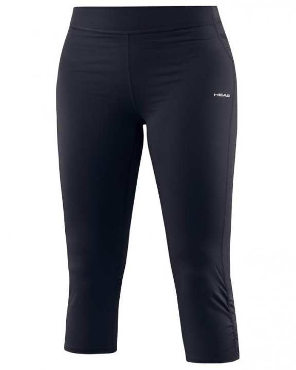Black Polyester & Elastic Jersey Vision Betty 3/4 Leggings for Women - 814326-BK
