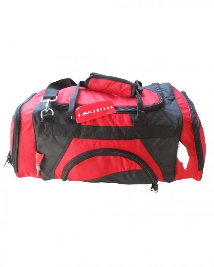 Travel Bag  - Medium - Red & Black