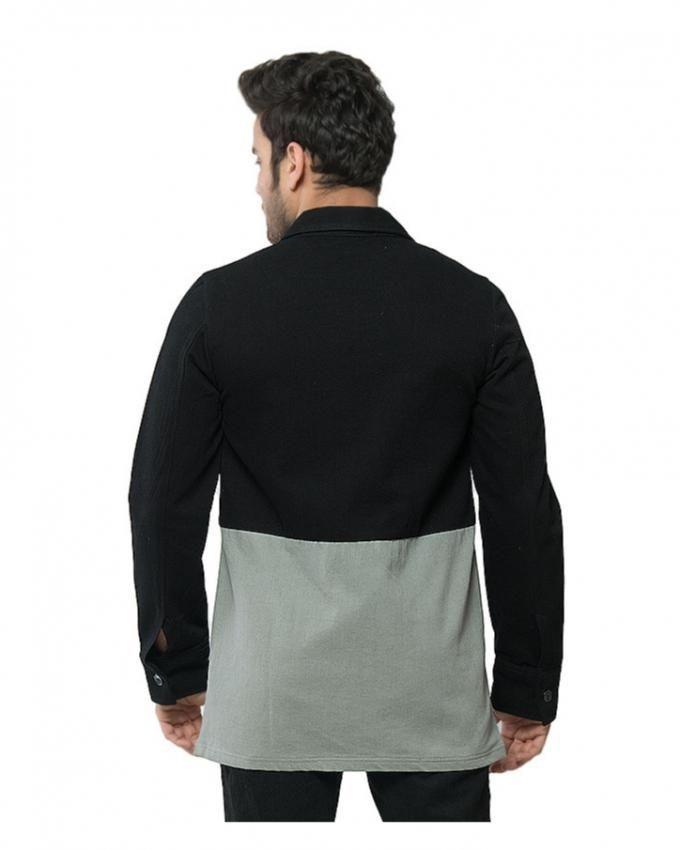 Multicolor Denim French Coat for Men - MD-848
