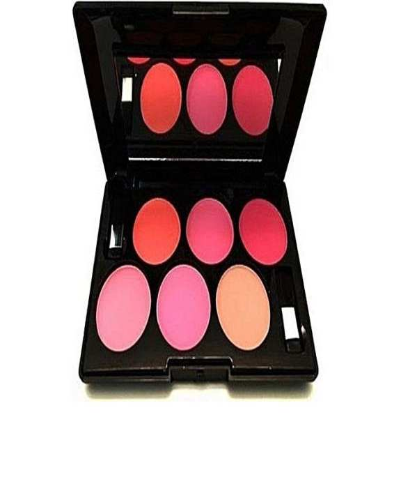 6 Shades Matte Blush Palette - Multicolor