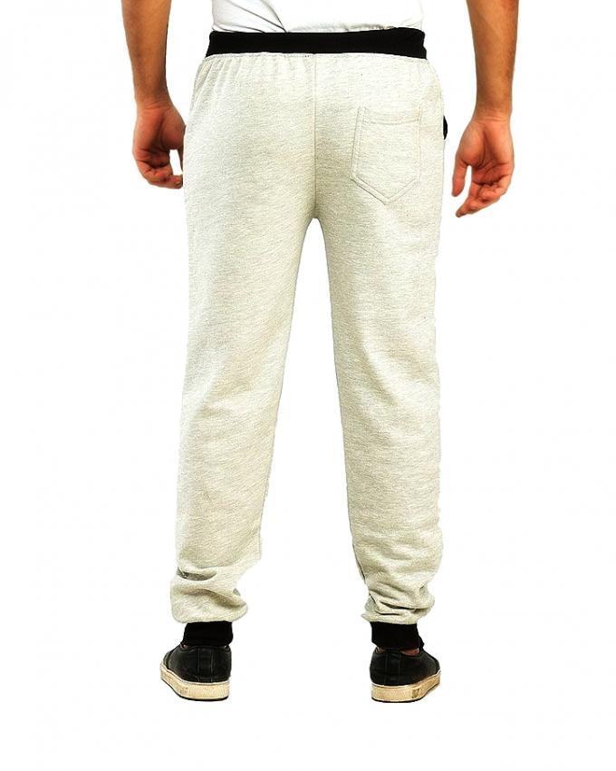 Pack of 2 - Black & Grey Cotton Fleece Slim Fit Sweatpants for Men