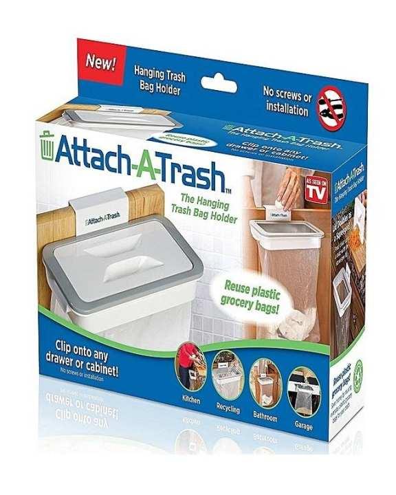 Attach-A-Trash The Hanging Trash Bag Holder