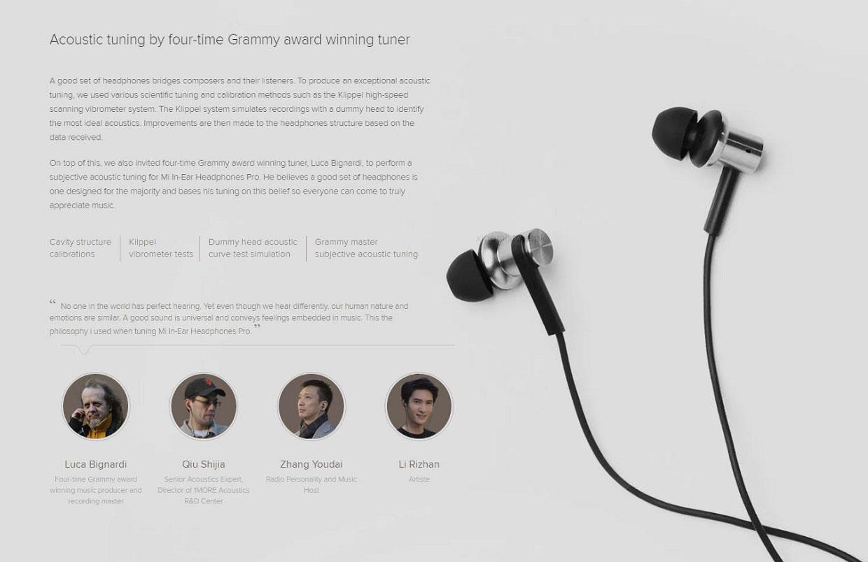 Xiaomi Hybrid MI IV in-ear Earphones Pro Dual Drivers