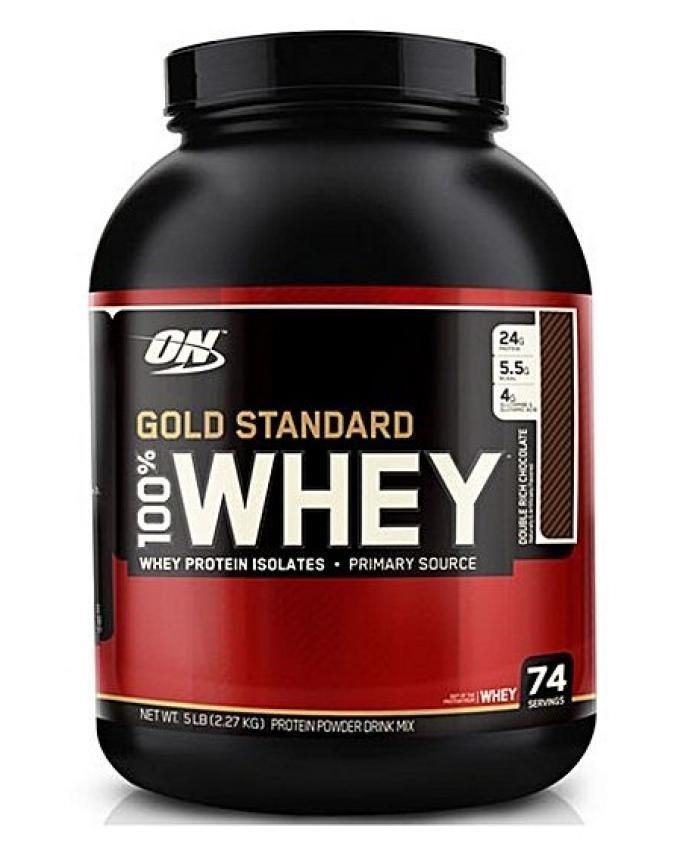 Gold Standard 100% Whey Protein Powder - 5lbs - Double Rich Chocolate