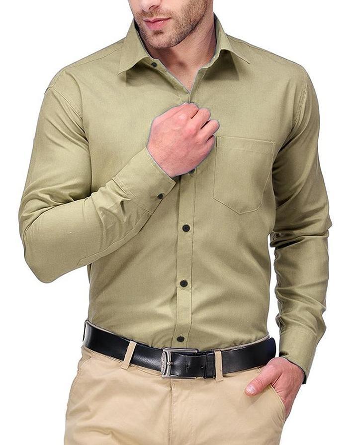 Latest Arrivals Slim Fit Formal Shirt For Men - Skin