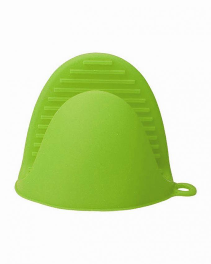 Pair of Silicone Anti Slip Oven Gloves - Green