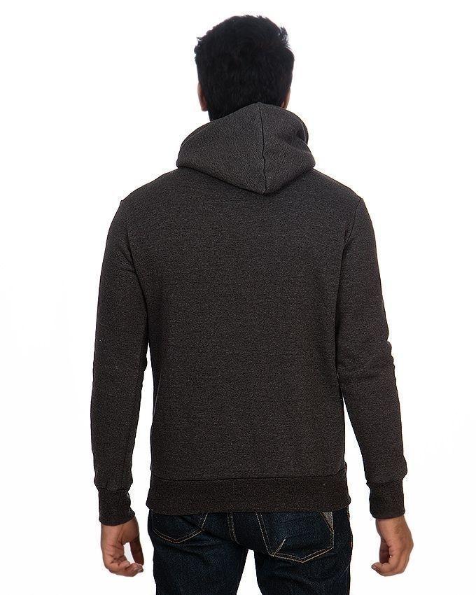Pack of 2 - Black & Charcoal Grey Fleece Zipper Hoodies For Men
