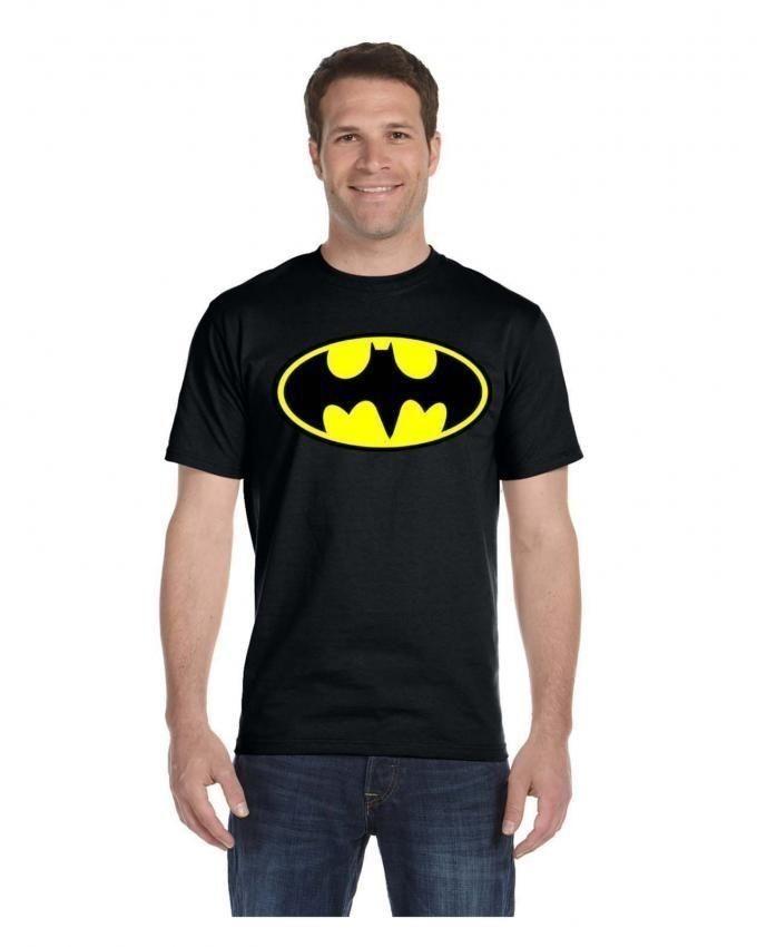Black Cotton Batman T-Shirt For Men