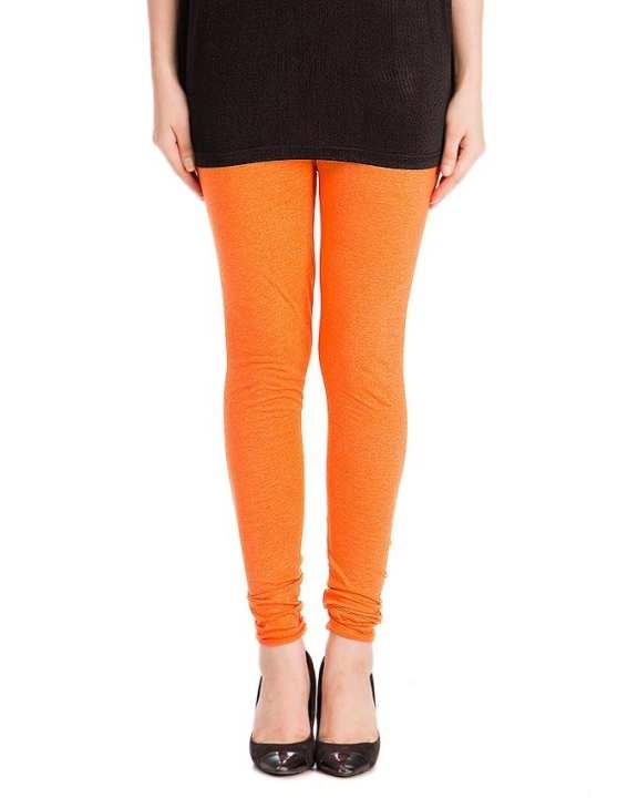 Orange Cotton Churidaar Tights For Women