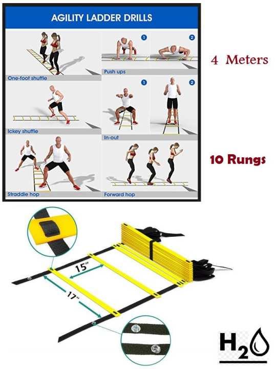 4 Meters- 10 rungs agility ladder
