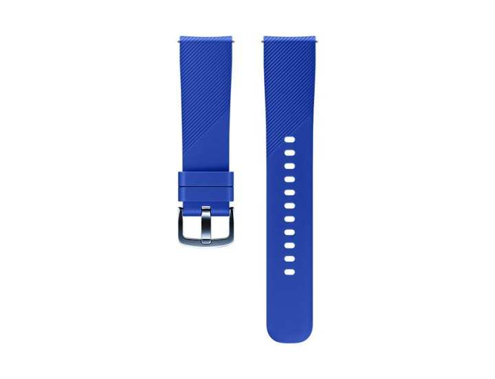 Silicone Bracelet Watch Strap Band L Size Wristband for Samsung Gear S3 Frontier Classic-blue