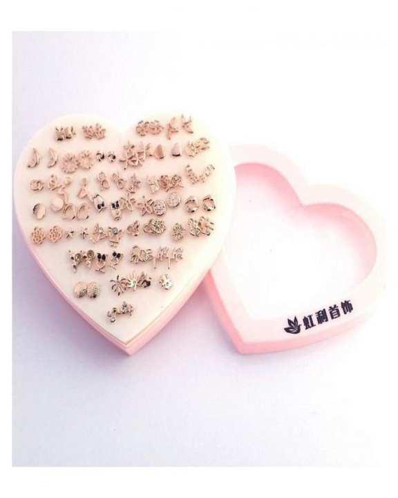 Pack of 36 Earring for Women - Gold