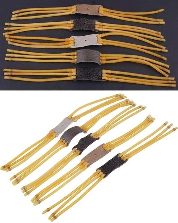 6 Strips Elastic Catapult Bow Slingshot Rubber Band - 1 Pc