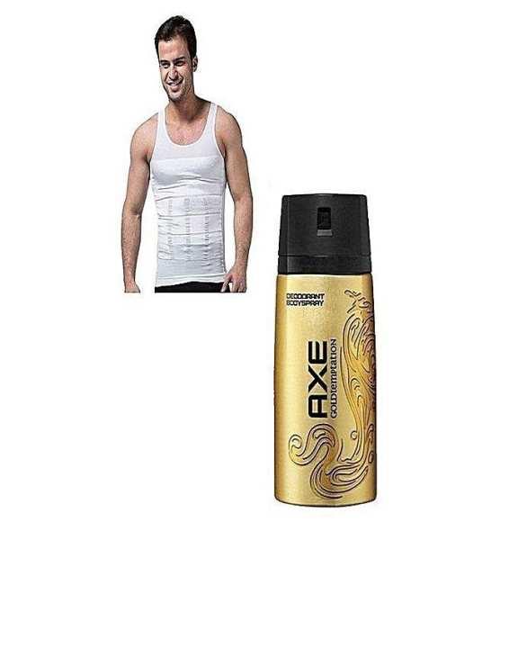 Pack Of 2 - Slim & Lift Vest + Axe Gold Temptation