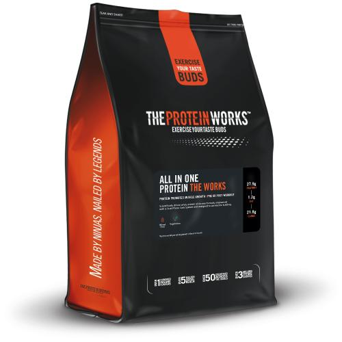 The Protein Works All In One Protein - 1 kg (2.2 lbs) - Chocolate Silk