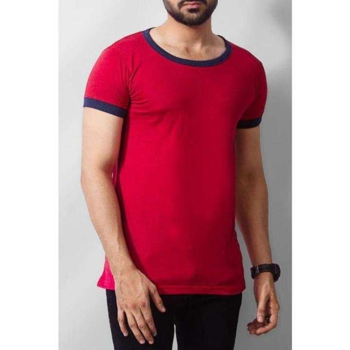 Red Deep Neck T-shirt For Men