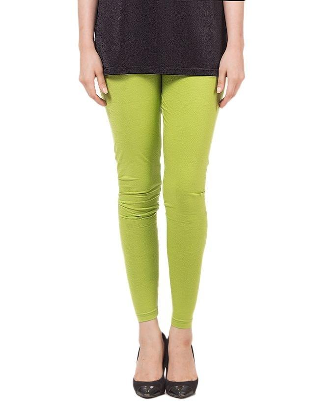 Light Green Cotton Tights for Women - POS-148-MP