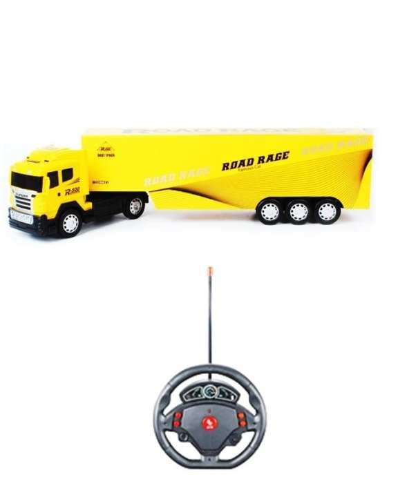 Remote Control Long & Heavy Truck - Yellow
