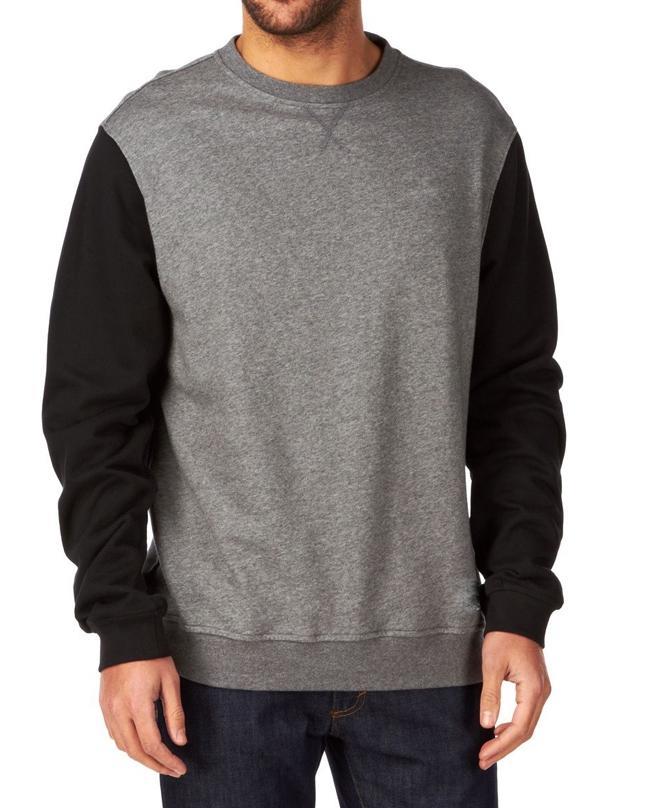 2d7321a6924122 Heather Grey And Black Mix Cotton Etnies Classic Sweatshirt For Men