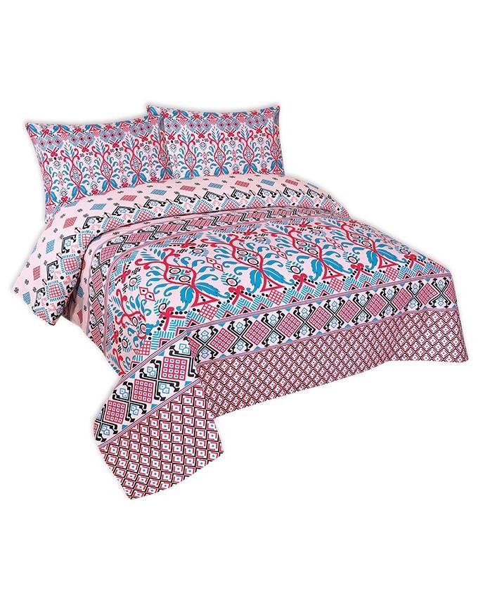 Multicolor Cotton King Size Bedsheet