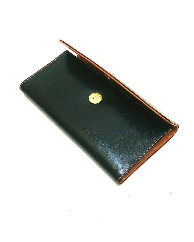Black & Mustard Leather Wallet For Women