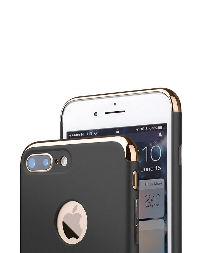 Electroplated Joint Back Case for Iphone 7 - Gold & Black