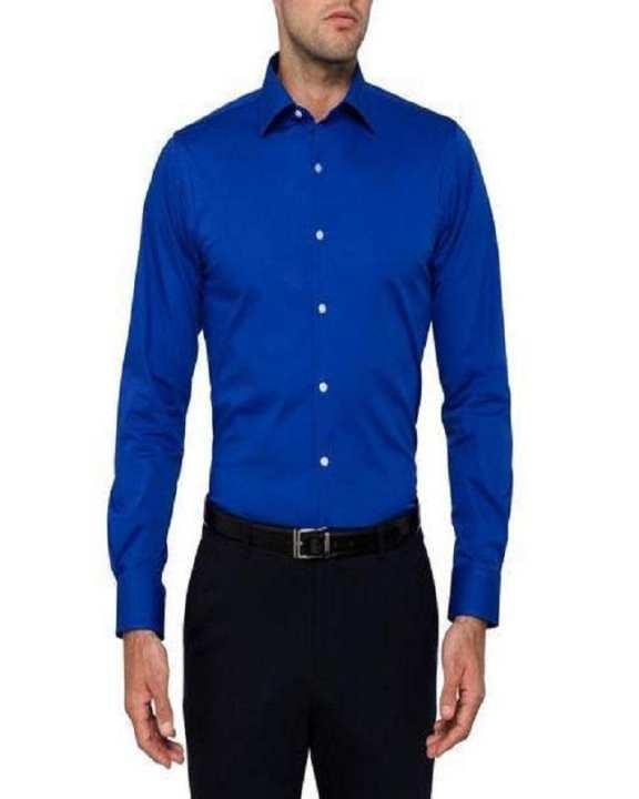 Royal Blue Dress / Formal Shirt For Men Office Wear