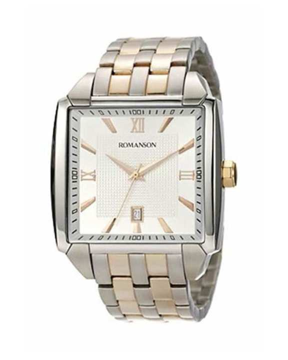 Romanson White Stainless Steel Quartz Wrist Watch TM9216 MJ WH