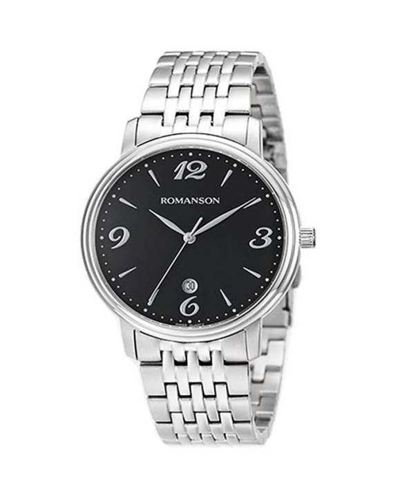 Romanson Black Stainless Steel Quartz Wrist Watch