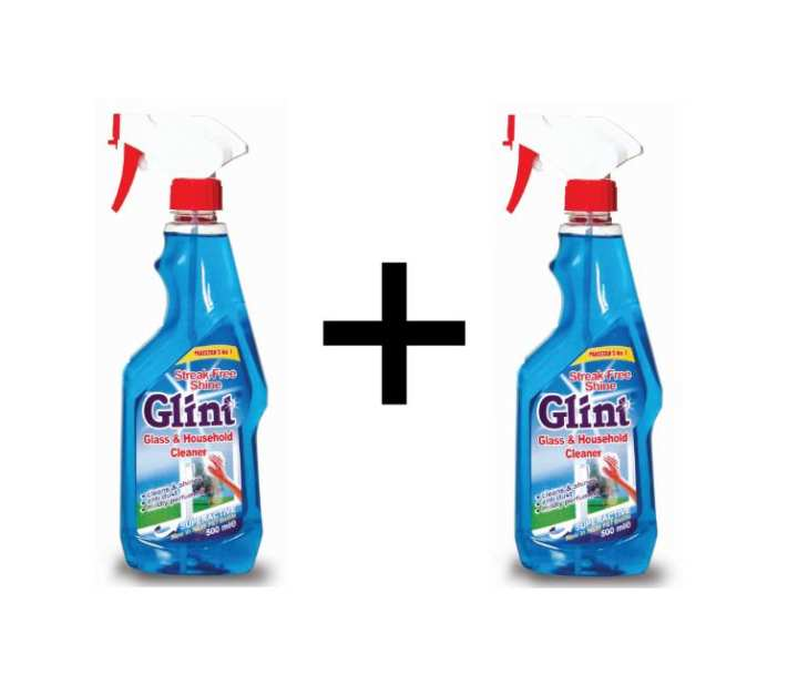 Pack of 2 - Glass and Household Cleaner Spray Glint - 500ML