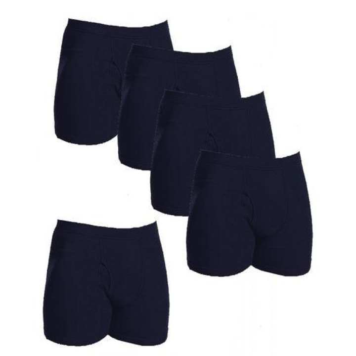 Pack Of 5 - Navy Blue Cotton Boxer Underwear For Men