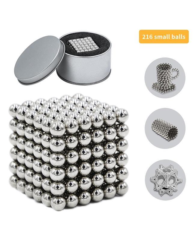 Magnetic Neodymium Bucky Balls – 216pc's – 5mm – Silver