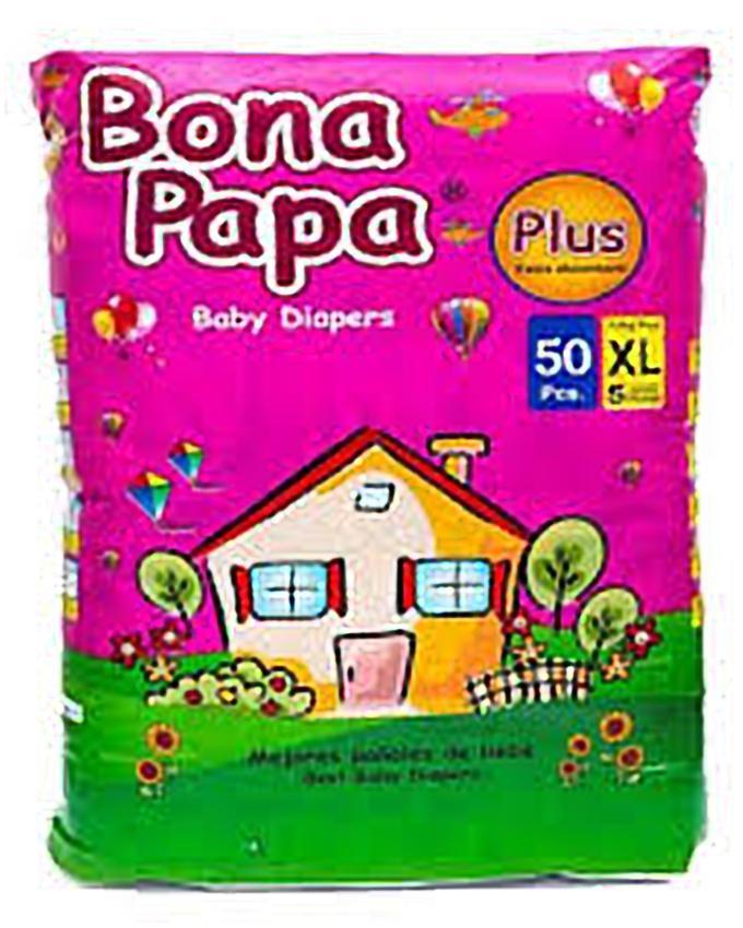 BONA PAPA Pampers PLUS Baby Diaper -XL (Size 5 /Belt/11-