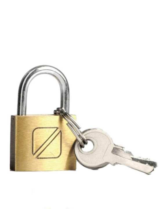 020 - Security Padlock - Golden